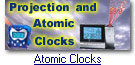 Projection and radio controlled clocks with weather
